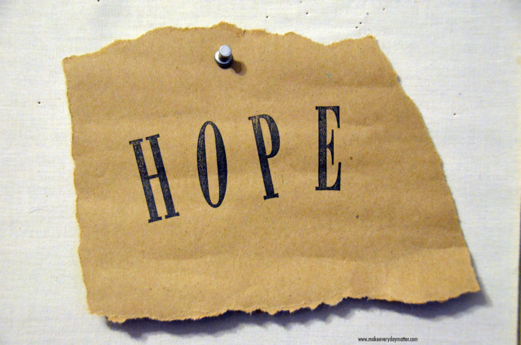 Hope torn paper watermark