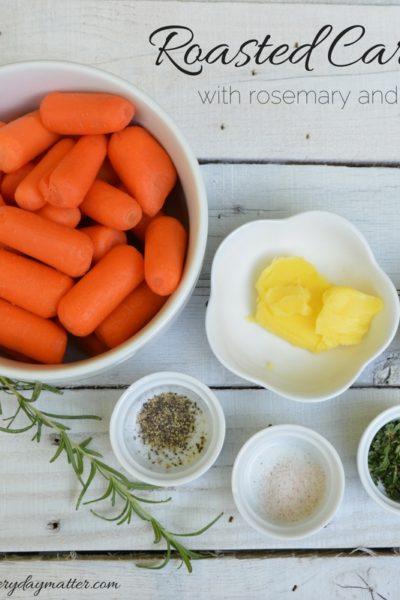 Roasted Carrots with Rosemary & Honey